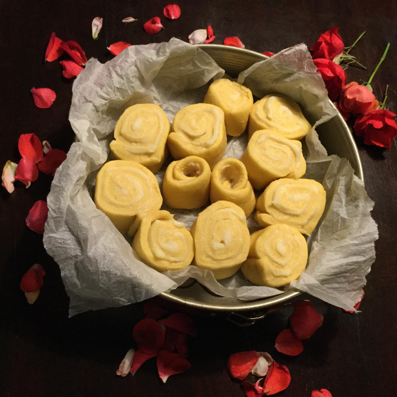 torta di rose, preparazione