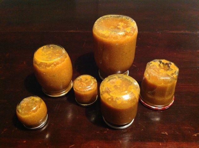 vasetti capovolti marmellata di mandarini