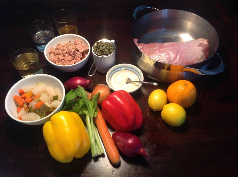 Ingredients for vitello tonnato