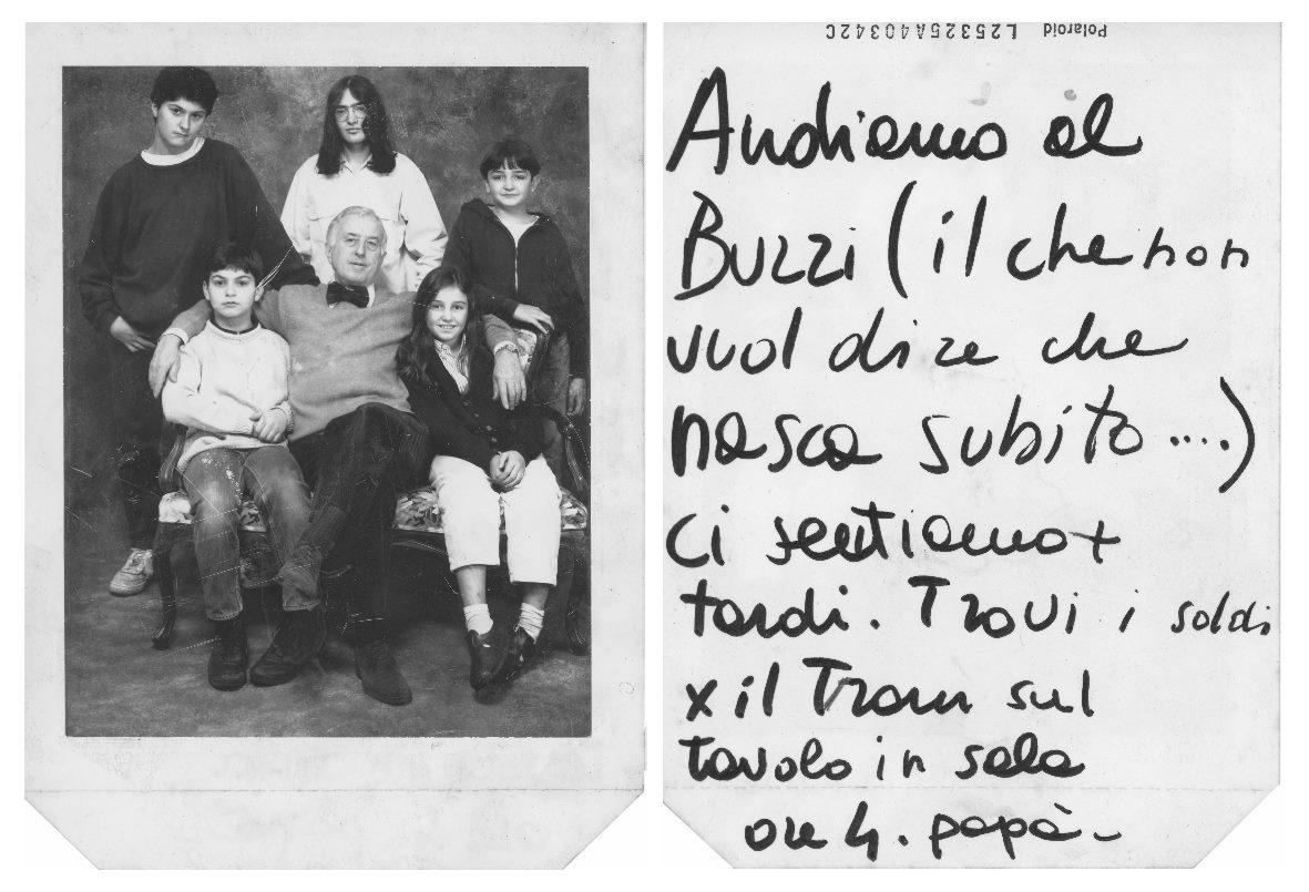 Messaggio per Martino retro  Polaroid