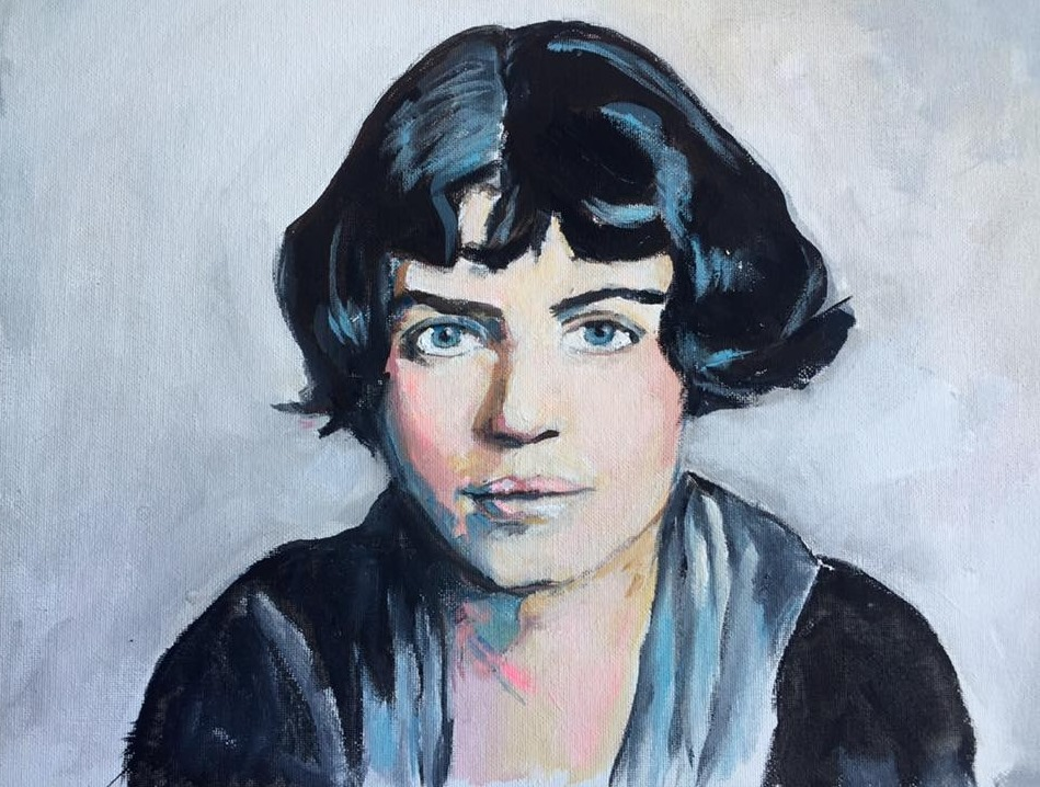 ritratto di Margaret Mead, di by Allison Adams per il progetto Groundbreaking Girls