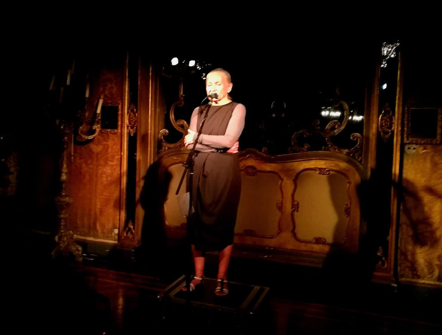 Mariangela Gualtieri a Villa Ponti, Arona, 2019, Festival Teatro sull'Acqua