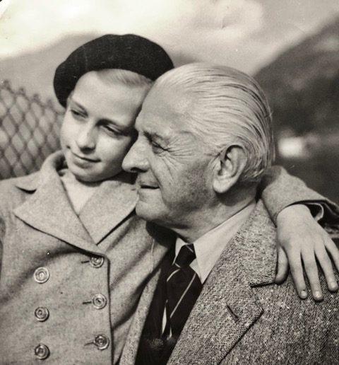 Paola Salvioni e nonno Carletto