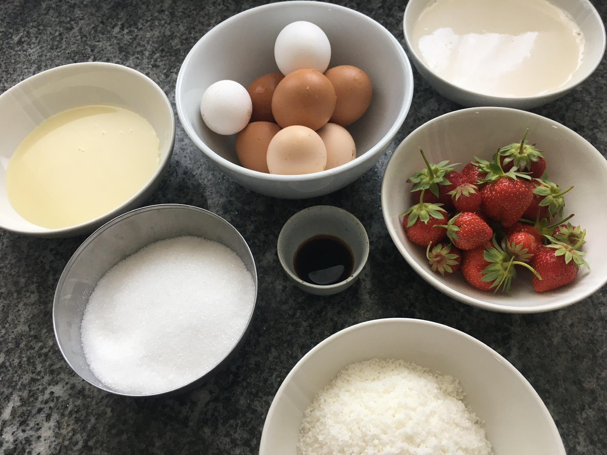ingredienti flan di cocco