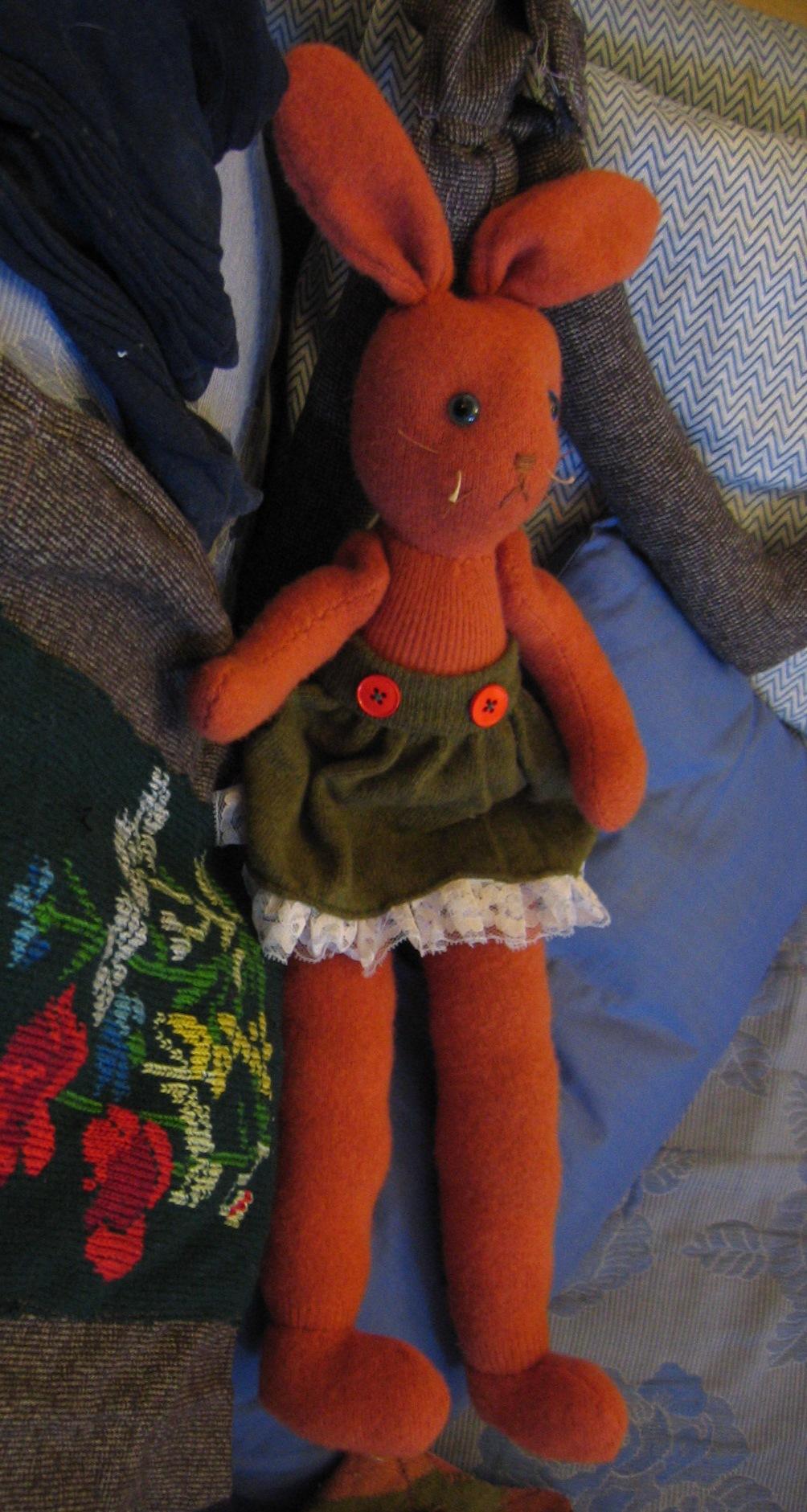 Coniglio di stoffa Arancione